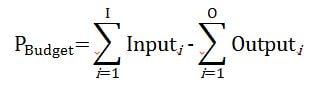 Presentation of the formula for calculating the long-term phosphorus budget